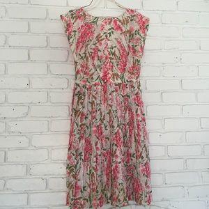 1950s 1960's Floral Dress